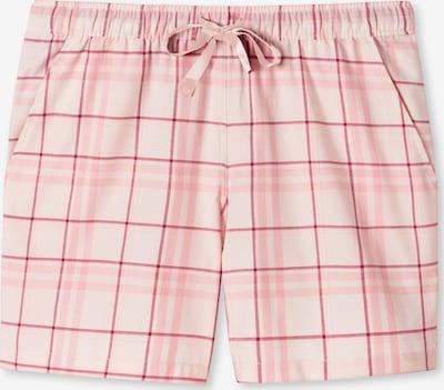 SCHIESSER Korte pyjama ' Mix & Relax ' in de kleur Rosa / Wit, Productweergave
