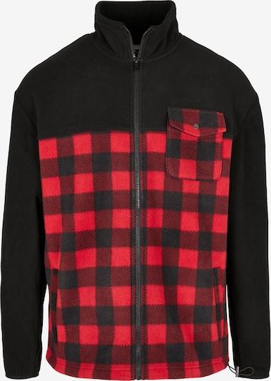 Urban Classics Fleecová mikina - červená / černá, Produkt