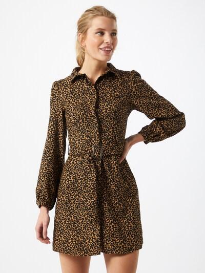 Trendyol Kleid in senf / schwarz, Modelansicht