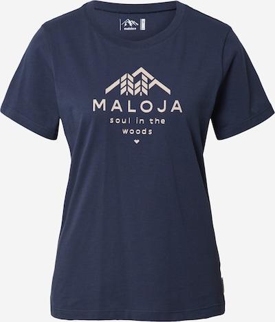 Maloja Camiseta funcional 'Platane' en crema / azul oscuro, Vista del producto