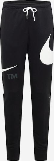 Pantaloni 'Swoosh' Nike Sportswear pe gri / negru / alb, Vizualizare produs