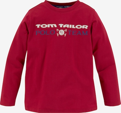 Tom Tailor Polo Team Shirt in Blue / Dark red / White, Item view