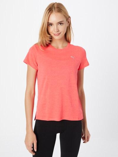 PUMA Функционална тениска в розов меланж / сребърно: Изглед отпред