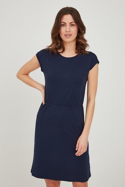 Fransa Jerseykleid in blau / navy / dunkelblau, Modelansicht