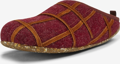 CAMPER Huisschoen in de kleur Bordeaux, Productweergave