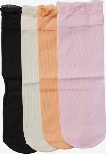 VERO MODA Socken 'Mira' in pastelllila / apricot / schwarz / naturweiß, Produktansicht