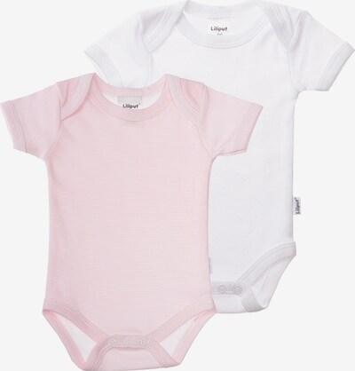 LILIPUT Kurzarmbody in rosa / weiß, Produktansicht