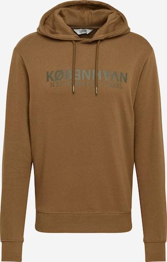 !Solid Sweatshirt 'Maru' in de kleur Antraciet / Kaki: Vooraanzicht