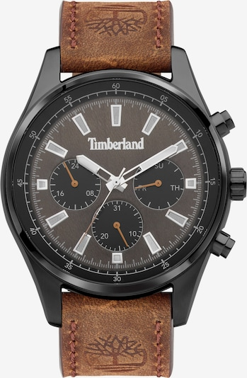 TIMBERLAND Armbanduhr in dunkelbraun / grau / schwarz / silber / weiß, Produktansicht
