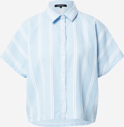 recolution Blouse in de kleur Lichtblauw / Wit, Productweergave