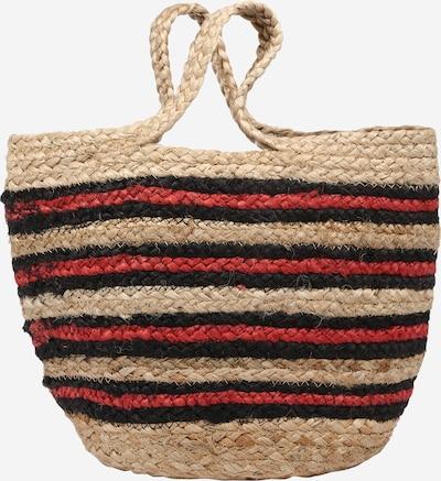 Samsoe Samsoe Sac de plage en beige / rouge / noir, Vue avec produit