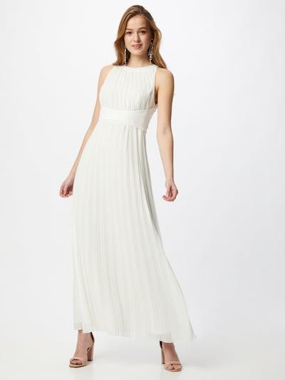 APART Abendkleid aus plissiertem Chiffon in creme, Modelansicht
