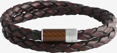 Tateossian London Armband in braun / silber, Produktansicht