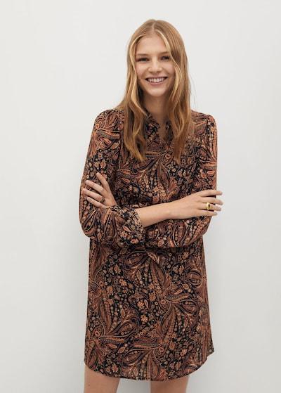 MANGO Kleid 'oslo' in braun / schwarz, Modelansicht