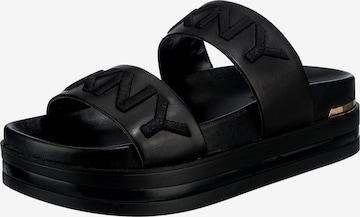 DKNY Mules in Black