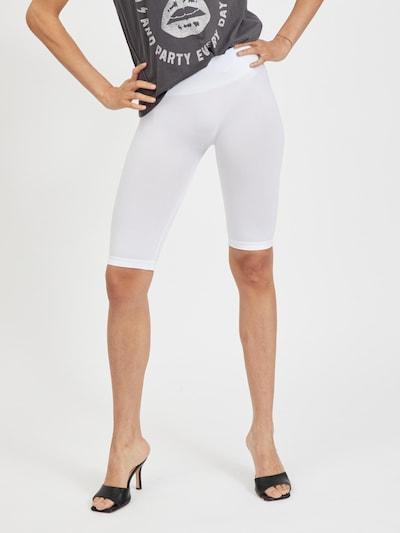 VILA Leggings 'Seam' en blanc naturel, Vue avec modèle