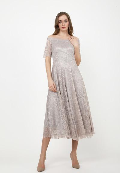 Madam-T Cocktailkleid 'AZALIA' in beige / grau, Modelansicht