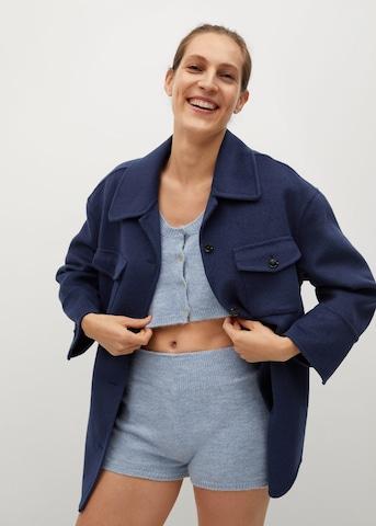 Manteau mi-saison MANGO en bleu