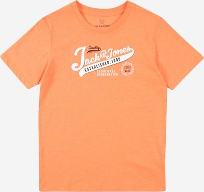 Jack & Jones Junior Тениска в оранжев меланж / черно / бяло, Преглед на продукта