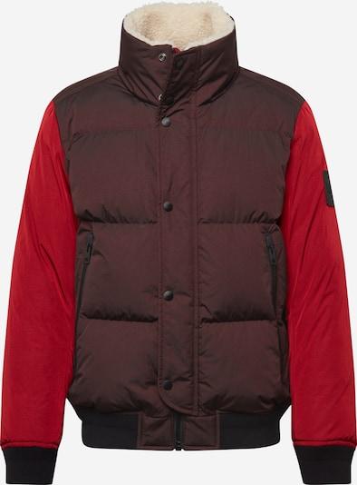 BOSS Winterjas 'Osk' in de kleur Rood / Bordeaux / Zwart: Vooraanzicht
