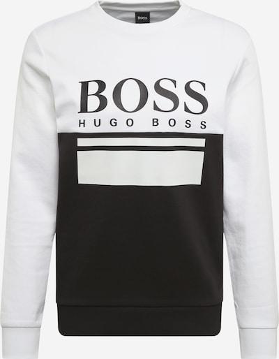 BOSS ATHLEISURE Sweatshirt 'Salbo 1' in schwarz / weiß, Produktansicht