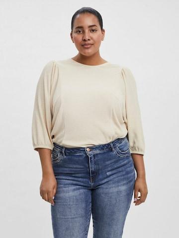 Vero Moda Curve 3/4-Ärmel Bluse in Beige