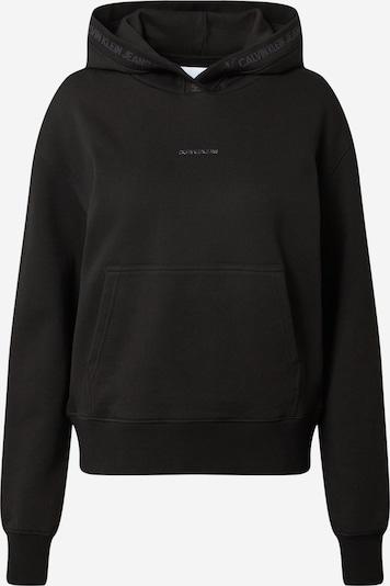 Bluză de molton Calvin Klein Jeans pe gri închis / negru, Vizualizare produs
