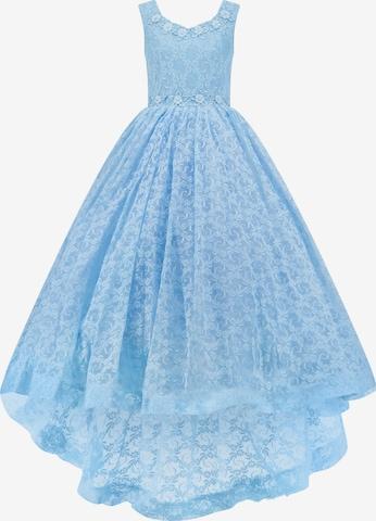 Prestije Blumiges Kinderkleid in Blau