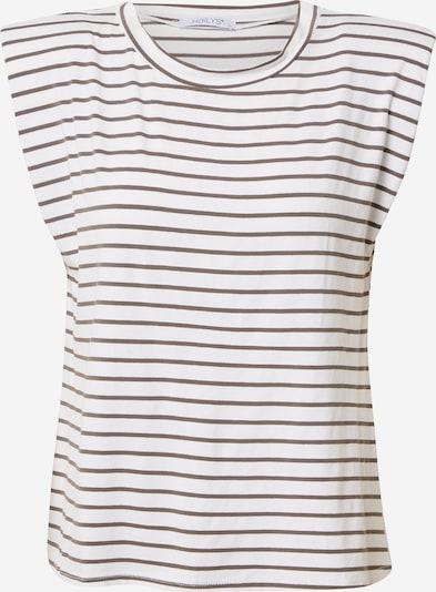 Tricou 'Gina' Hailys pe negru / alb murdar, Vizualizare produs