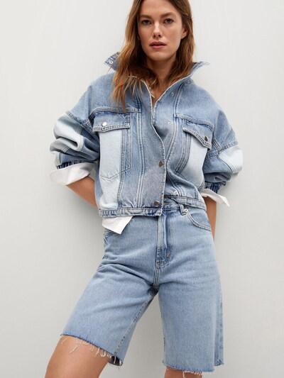 MANGO Short 'ARIADNA' in blue denim, Modelansicht