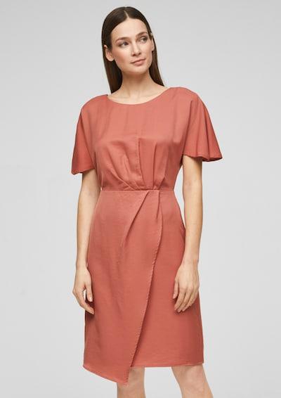 s.Oliver BLACK LABEL Kleid in rostrot, Modelansicht