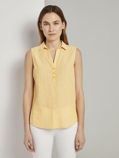 TOM TAILOR Bluse in gelb / weiß, Modelansicht