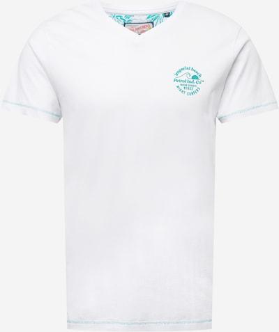 Petrol Industries Тениска в нефритено зелено / бяло, Преглед на продукта