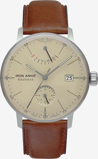 Iron Annie Armbanduhr 'Bauhaus Power Reserve' in beige / braun, Produktansicht