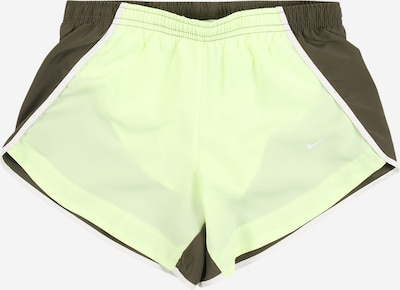 Sportinės kelnės 'Dry' iš NIKE , spalva - rusvai žalia / šviesiai žalia, Prekių apžvalga