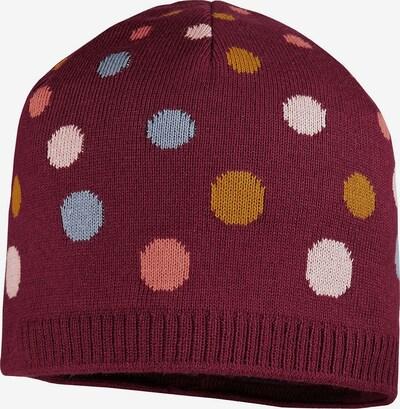 MAXIMO Mütze in mischfarben / bordeaux, Produktansicht