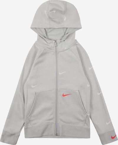 Nike Sportswear Sweatvest in de kleur Grijs / Rood / Wit, Productweergave