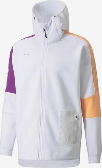 PUMA Sportjas in de kleur Geel / Donkerlila / Wit, Productweergave