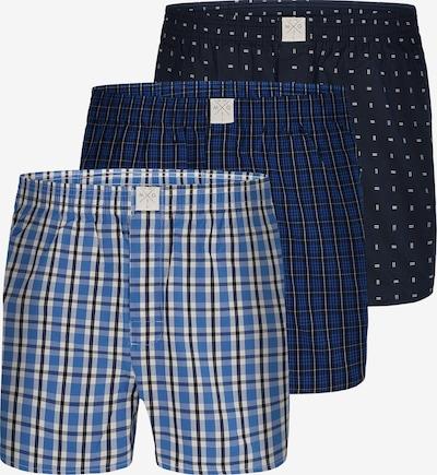 MG-1 Web-Boxershorts 3-Pack ' Checks ' in blau, Produktansicht