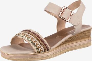 JANE KLAIN Sandale in Beige