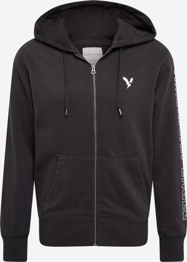 American Eagle Sweatjacke in schwarz / weiß, Produktansicht