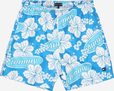 TOMMY HILFIGER Zwemshorts in de kleur Hemelsblauw / Lichtblauw / Wit, Productweergave