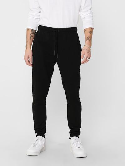 Pantaloni 'CERES' Only & Sons pe negru, Vizualizare model