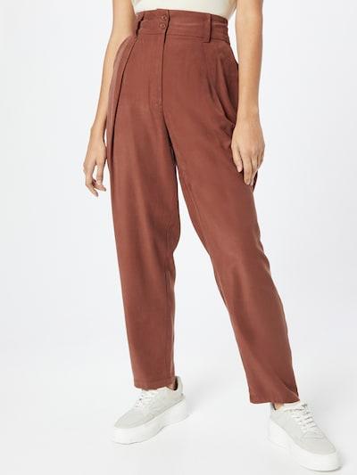 ABOUT YOU Bandplooibroek 'Alina' in de kleur Donkerrood, Modelweergave