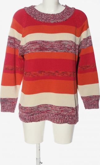 Usha Rundhalspullover in XL in pink / rot / wollweiß, Produktansicht