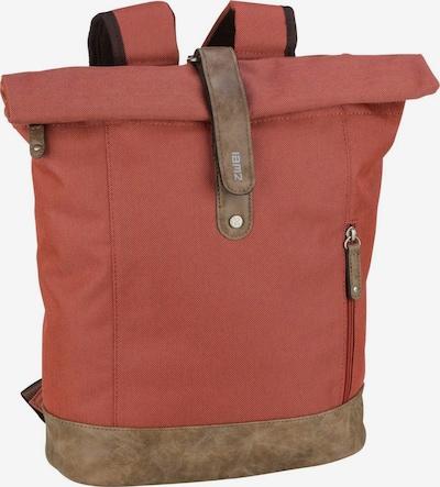 ZWEI Rucksack in braun / pastellrot, Produktansicht