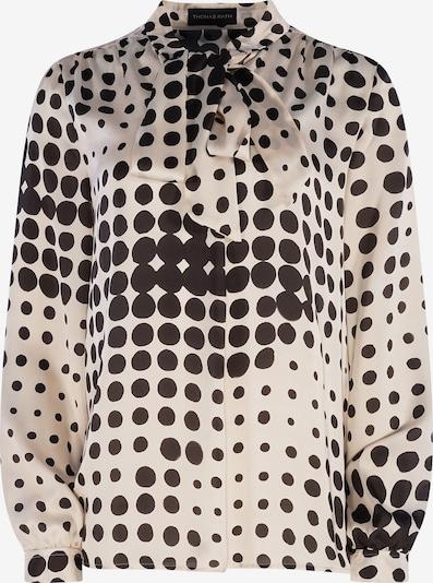 THOMAS RATH Blouse ' Birga ' in de kleur Zwart / Offwhite, Productweergave