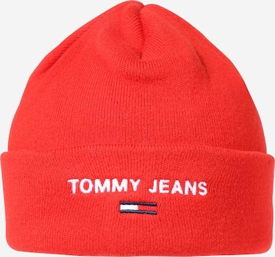 Tommy Jeans Muts in de kleur Navy / Kersrood / Wit, Productweergave