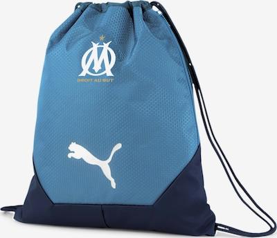 PUMA Turnbeutel 'Olympique de Marseille' in rauchblau / dunkelblau, Produktansicht