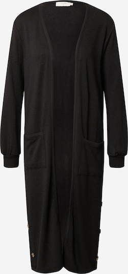 Cream Knitted Coat 'Sally' in Black, Item view